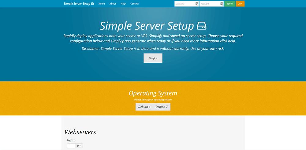 Simple Server Setup