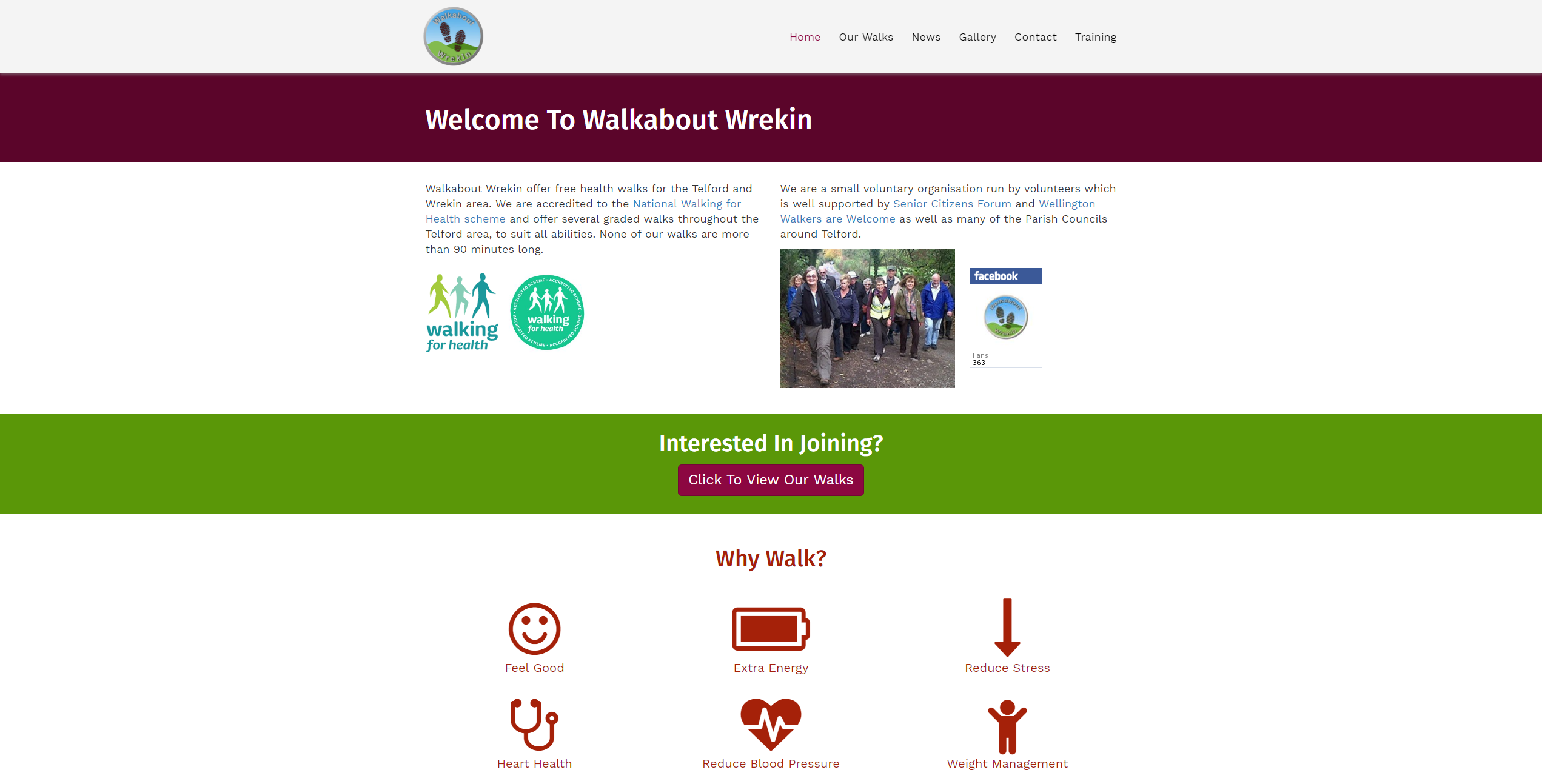 Walking for Health - Telford & Wrekin